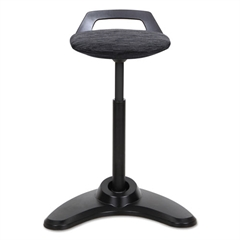 Sit to Stand Perch Stool, Black with Black Base