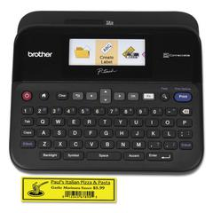 PT-D600 PC-Connectable Label Maker with Color Display, Black