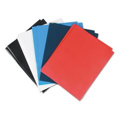 Laminated Two-Pocket Folder, Cardboard Paper, Assorted, 11 x 8 1/2, 25/Box