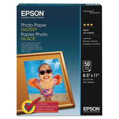 Glossy Photo Paper, 52 lbs, Glossy, 8-1/2 x 11, 100 Sheets/Pack