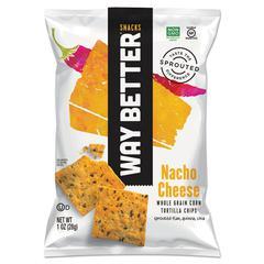 Tortilla Chips, Nacho Cheese, 1 oz Bag, 12/Carton