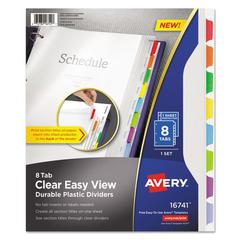 Clear Easy View Plastic Dividers with Sheet Protector, Multicolor, 8-Tab, Letter