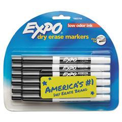 Low Odor Dry Erase Marker, Fine Point, Black, Dozen