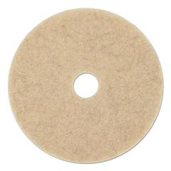 "Ultra High-Speed Floor Pads, 19"" Diameter, Natural Hair, Tan, 5/Carton"