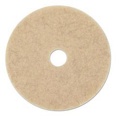 """Natural Hog Hair Burnishing Floor Pads, 19"""" Diameter, 5/Carton"""