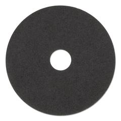 "Low-Speed Stripper Floor Pad 7200, 17"" Diameter, Black, 5/Carton"