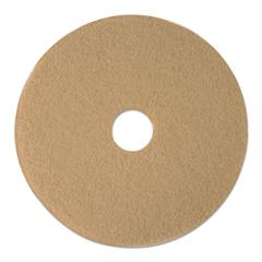 "Ultra High-Speed Floor Pads, 19"" Diameter, Tan, 5/Carton"