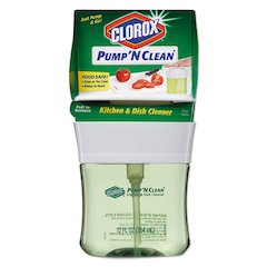 Pump 'N Clean Kitchen & Dish Cleaner, Crisp Citrus, 12 oz Pump, 6/CT