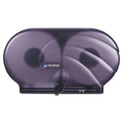 "Twin 9"" JBT Toilet Tissue Dispenser, Oceans, 19 x 5 1/4 x 12, Black Pearl"