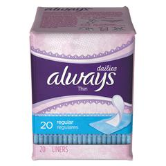 Dailies Thin Liners, Regular, 20/Pack