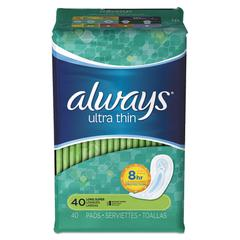 Ultra Thin Pads, Super Long, 40/Pack