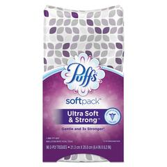 Ultra Soft Facial Tissue, 2-Ply, White, 96 Sheets/SoftPack, 9/Ctn