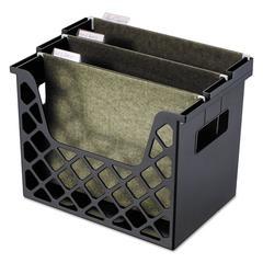 Recycled Desktop File Holder, Plastic, 13 1/4 X 8 1/2 X 9 5/8, Black