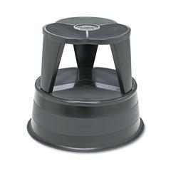 "Cramer Kik-Step Steel Step Stool, 350 lb cap, 16"" dia. x 14 1/4h, Black"