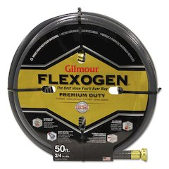 Eight-Ply Flexogen 10 Series Garden Hose, 3/4in x 50ft, Gray