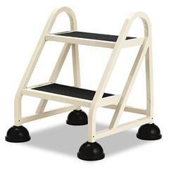 "Cramer Two-Step Stop-Step Aluminum Ladder, 23"" High, Beige"