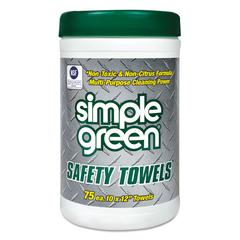 Safety Towels, 10 x 11 3/4, 75/Canister, 6 per Carton