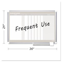 In-Out Magnetic Dry Erase Board, 36x24, Silver Frame