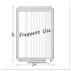 In-Out Magnetic Dry Erase Board, 24x36, Silver Frame