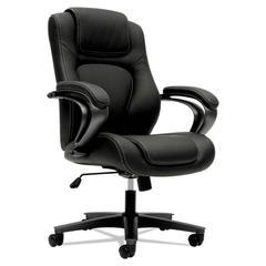 VL402 Series Executive High-Back Chair, Black Vinyl