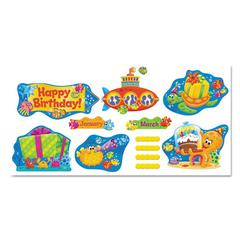 Sea Buddies Birthday Bulletin Board Set, 18 1/4 x 31, 110 Pieces