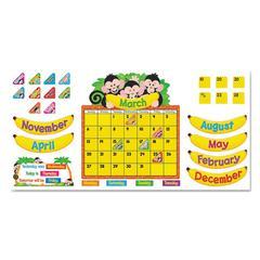 Monkey Mischief Calendar Bulletin Board Set, 18 1/4 x 31, 100 Pieces
