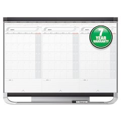 Prestige 2 Total Erase 3-Month Calendar, 36 x 24, White, Graphite Frame