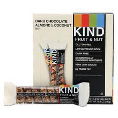 Fruit and Nut Bars, Dark Chocolate Almond & Coconut, 1.4 oz Bar, 12/Box