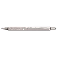 EnerGel Alloy RT Retractable Liquid Gel Pen, .7mm, Chrome Barrel, Black Ink