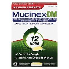 DM Maximum Strength Expectorant and Cough Suppressant, 14 Tablets/Box