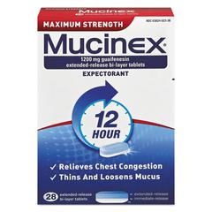 Maximum Strength Expectorant, 28 Tablets/Box
