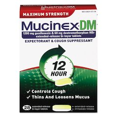 DM Maximum Strength Expectorant and Cough Suppressant, 28 Tablets/Box