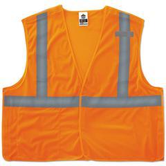 GloWear 8215BA Type R Class 2 Econo Breakaway Mesh Vest, Orange, 4XL/5XL