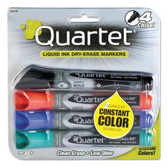 EnduraGlide Dry Erase Marker, Chisel Tip, Assorted Colors, 4/Set