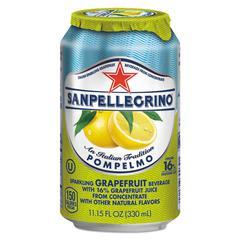 Sparkling Fruit Beverages, Pompelmo (Grapefruit), 11.15 oz Can, 12/Carton