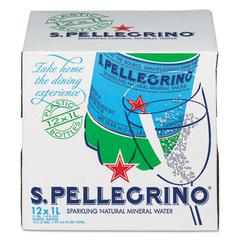 Sparkling Natural Mineral Water, 1 Liter Bottle, 12/Carton