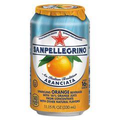 Sparkling Fruit Beverages, Aranciata (Orange), 11.15 oz Can, 12/Carton