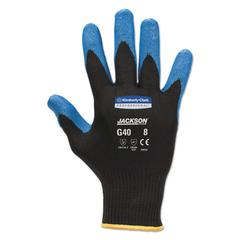 Jackson Safety* G40 Nitrile Coated Gloves, Large/Size 9, Blue, 12 Pairs