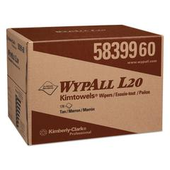L20 Wipers, BRAG Box, 2-Ply, 12 1/2 x 16 4/5, Brown, 176/Box