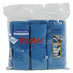 Microfiber Cloths, Reusable, 15 3/4 x 15 3/4, Blue, 24/Carton
