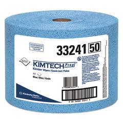 KIMTEX Wipers, Jumbo Roll, 9 3/5 x 13 2/5, Blue, 717/Roll