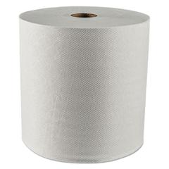 """Essential Plus Hard Roll Towels, 1.5"""" Core, 8"""" x 425 ft, White, 12 Rolls/Carton"""