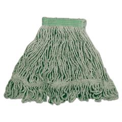 Super Stitch Blend Mop, Cotton/Synthetic, Small, Green, 6/Carton