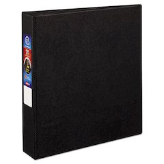 "Heavy-Duty Binder with One Touch EZD Rings, 11 x 8 1/2, 1 1/2"" Capacity, Black"