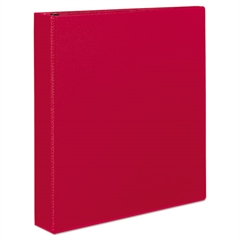 "Durable Binder with Slant Rings, 11 x 8 1/2, 1 1/2"", Red"
