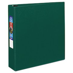 """Avery Heavy-Duty Binder with One Touch EZD Rings, 11 x 8 1/2, 2"""" Capacity, Green"""