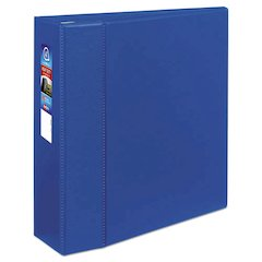 """Heavy-Duty Binder with One Touch EZD Rings, 11 x 8 1/2, 4"""" Capacity, Blue"""