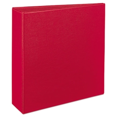 "Avery Durable Binder with Slant Rings, 11 x 8 1/2, 3"", Red"
