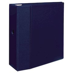 """Heavy-Duty Binder with One Touch EZD Rings, 11 x 8 1/2, 5"""" Capacity, Navy Blue"""