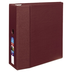 """Avery Heavy-Duty Binder with One Touch EZD Rings, 11 x 8 1/2, 5"""" Capacity, Maroon"""